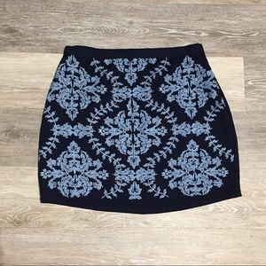 Embroidered Mini Skirt Francesca's Collections
